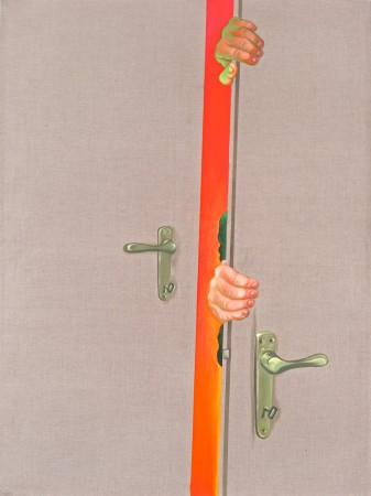 Double entrance, 2003. Oil on canvas, 180 x 135 cm.