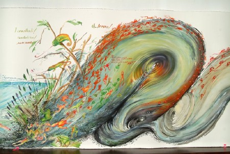 The Paradox of Flight (16/18) — The Frogs, 2004. 115 x 3000 cm.
