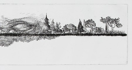 Horizon (5/5), 2012. Etching and drypoint on copper, <br /> plate 9.5 x 90 cm (paper 21 x 160 cm).